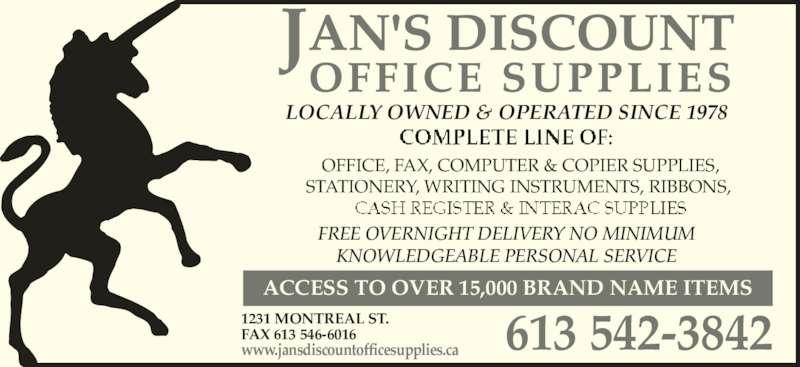Jan 39 S Discount Office Supplies Kingston On 1231