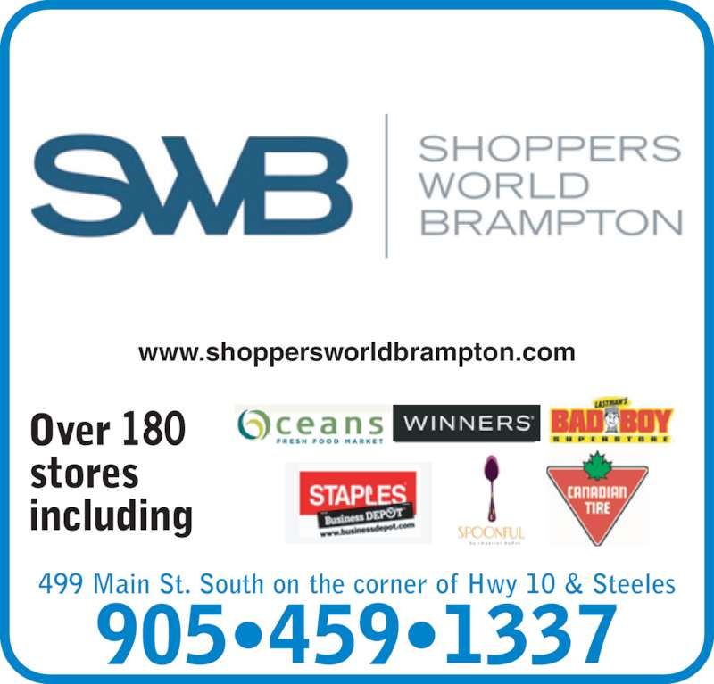 Shoppers World Brampton Brampton On 499 Main St S
