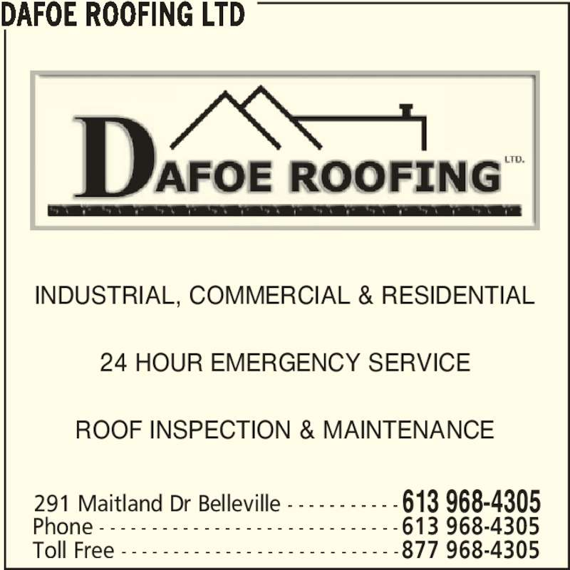Dafoe Roofing Ltd 291 Maitland Dr Belleville On