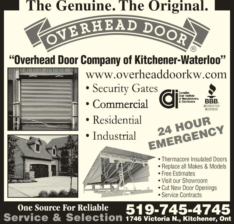 aa overhead door co of woodstock kitchener on 1746 victoria st n