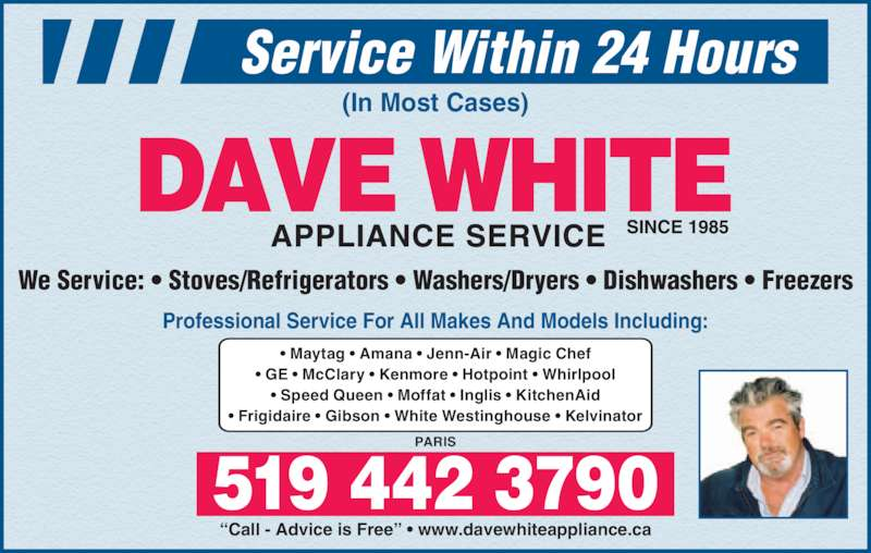 Dave White Appliance Service Opening Hours 21