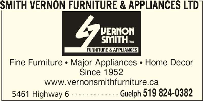 Smith Vernon Furniture & Appliances Ltd (519-824-0382) - Annonce illustrée======= -