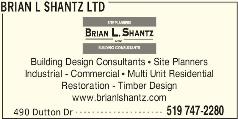 Brian l shantz ltd opening hours 490 dutton dr for Industrial design consultancy ltd