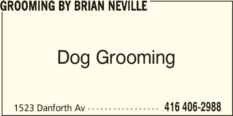 Ads Grooming By Brian Neville