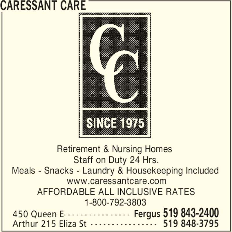 Caressant Care Nursing And Retirement Homes