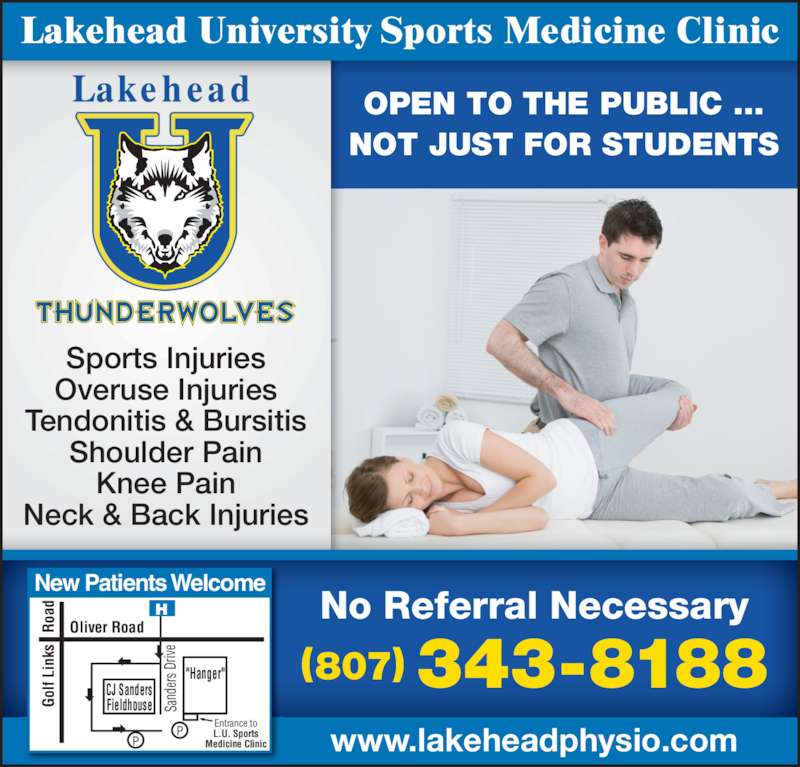 Lakehead University: Lakehead University Sports Medicine Clinic