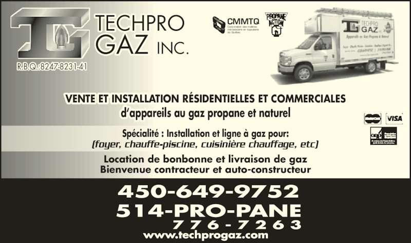 techpro gaz inc horaire d 39 ouverture 825 rue marcel. Black Bedroom Furniture Sets. Home Design Ideas