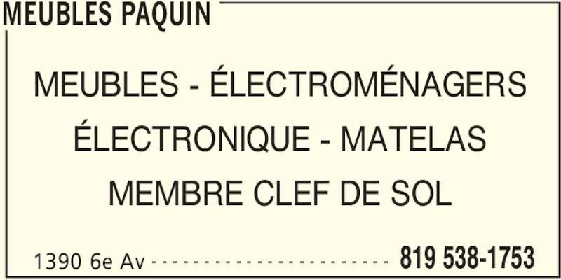 Meubles paquin grand m re qc 1390 av de grand m re for Meubles detaillants montreal