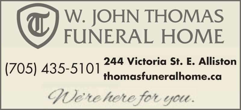 Thomas Funeral Home Alliston On 244 Victoria St E
