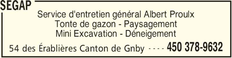 Segap 54 rue des rabli res granby qc for Service tonte de gazon