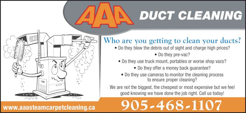 aaa duct cleaning opening hours 1048 line 1 niagara
