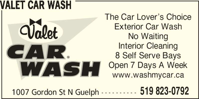 valet car wash opening hours 1007 gordon st n guelph on. Black Bedroom Furniture Sets. Home Design Ideas