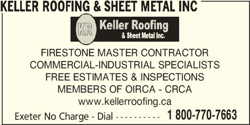 Keller Roofing Amp Sheet Metal Inc Victoria Po Box 206