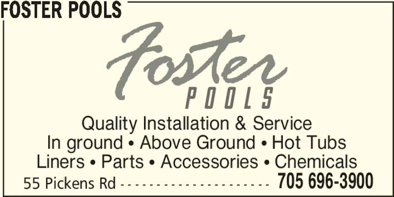 Foster Pools Opening Hours 55 Pickens Rd Rr 2 Hastings On