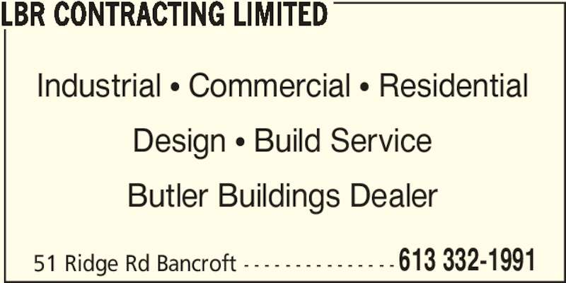 Butler Building Systems Lbr Contracting Limited