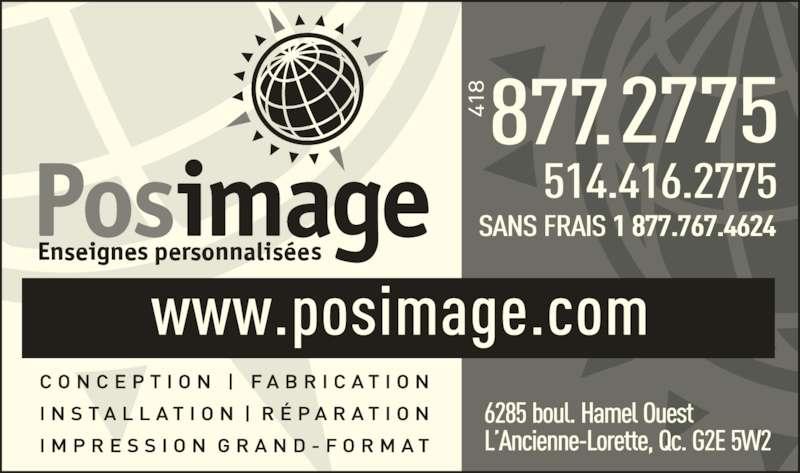 Posimage Inc (418-877-2775) - Annonce illustrée======= -