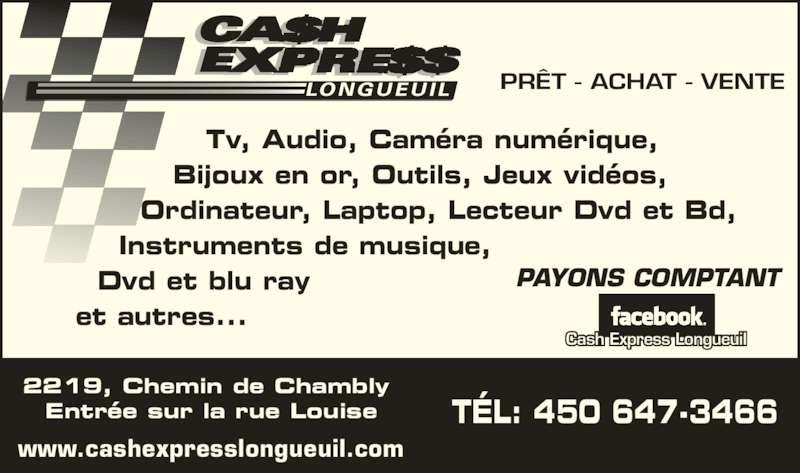 Cash express longueuil enr horaire d 39 ouverture 2219 - Cash express la valentine ...