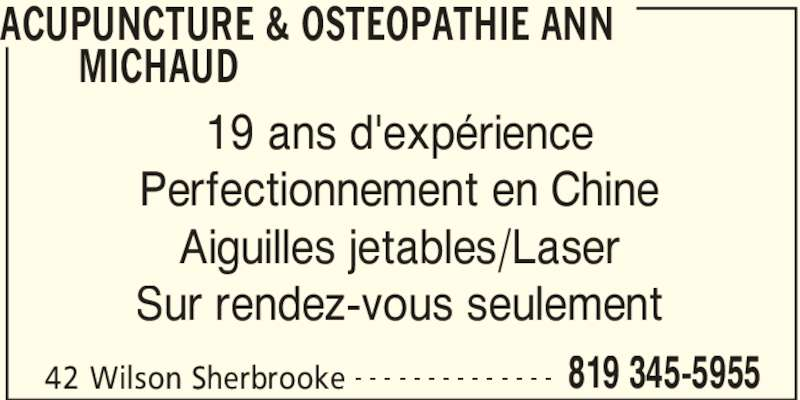 Ads Acupuncture & Ostéopathie Ann Michaud