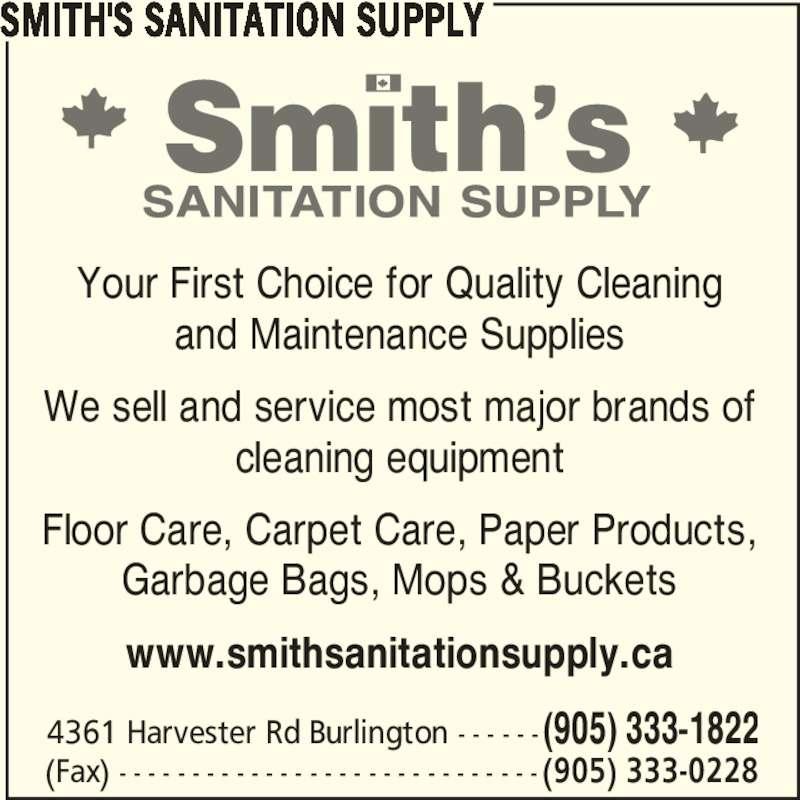 Discount Hardwood Flooring Burlington Ontario: Smith's Sanitation Supply Co