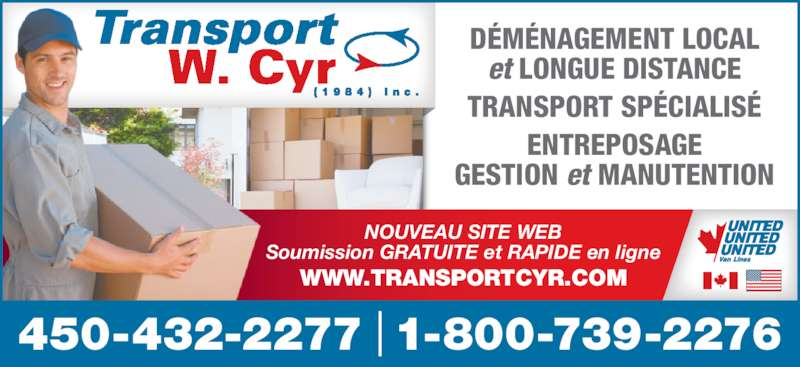 transport w cyr 1984 inc horaire d 39 ouverture 1050 rue de l 39 industrie saint j r me qc. Black Bedroom Furniture Sets. Home Design Ideas