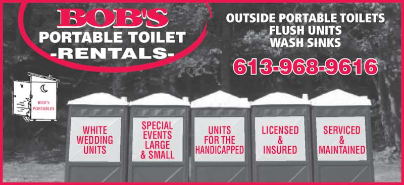 Bob 39 s portable toilet rentals shannonville on - Portable bathroom rentals for weddings ...