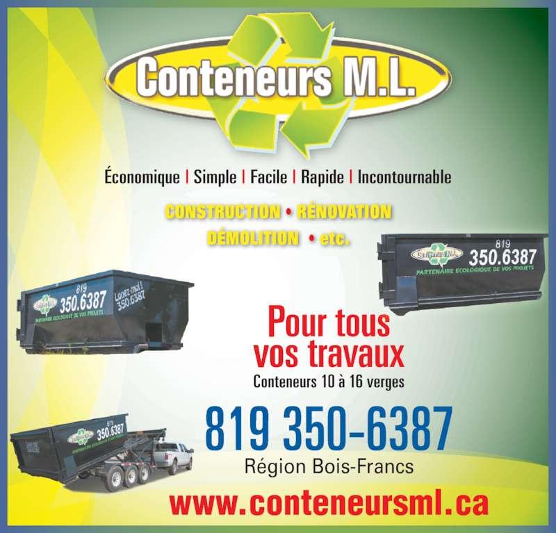 Conteneurs ml horaire d 39 ouverture 105 rue fran ois for Conteneur pour renovation