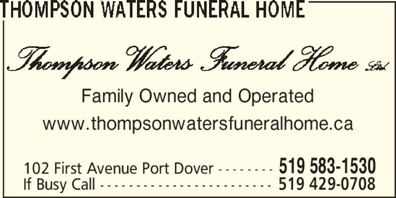 Thompson Funeral Home Port Dover