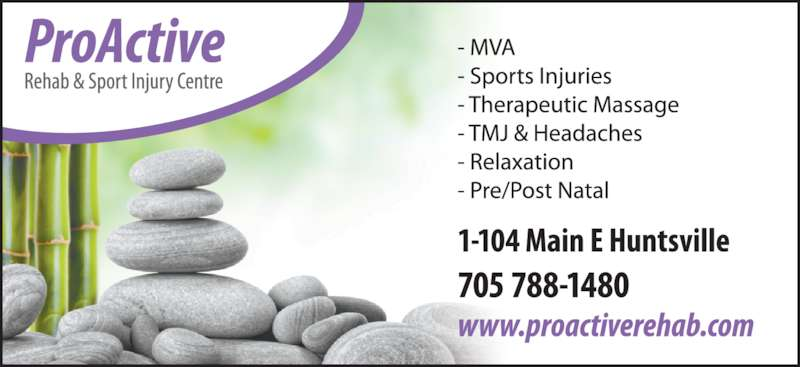 ProActive Rehab and Sport Injury Centre (705-788-1480) - Display Ad -