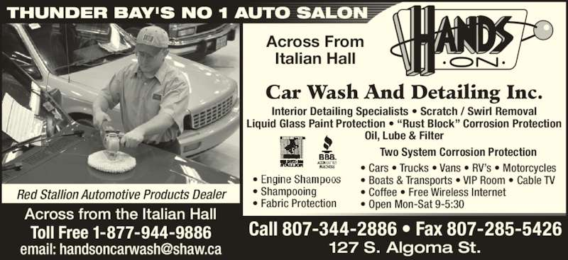 Hands on car wash detailing inc 127 south algoma st - Car wash interior shampoo near me ...