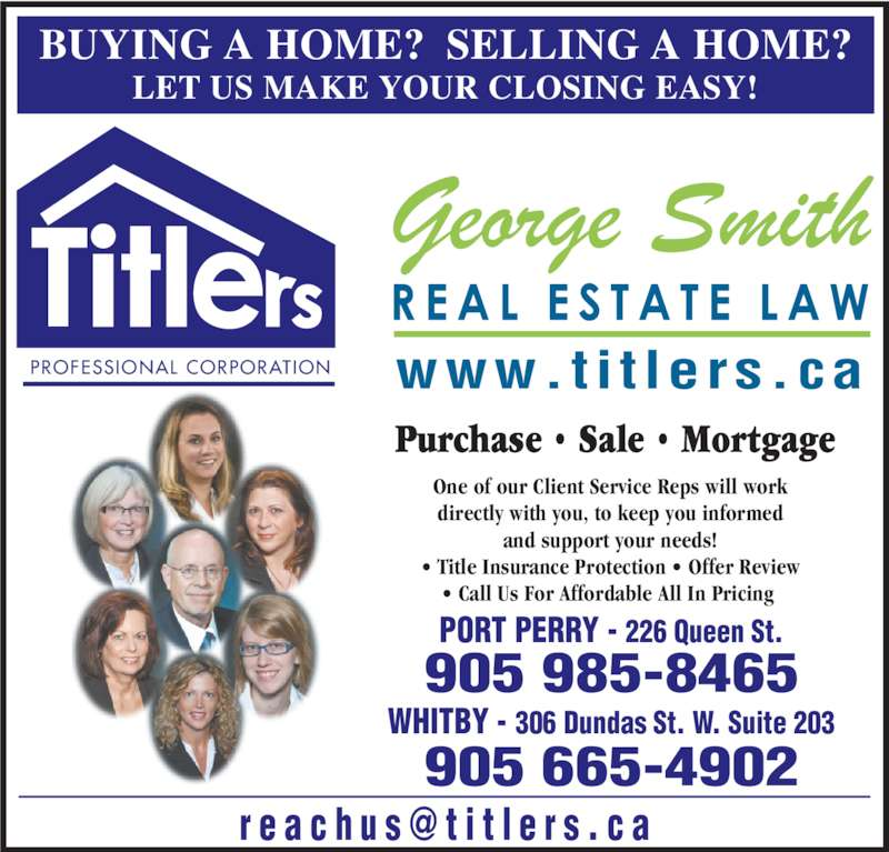 Ads George Smith-Titlers Real Estate Law