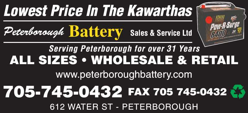 Ads Peterborough Battery Sales & Service Ltd