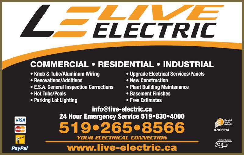 Live Electric 1 Bard Blvd Guelph On