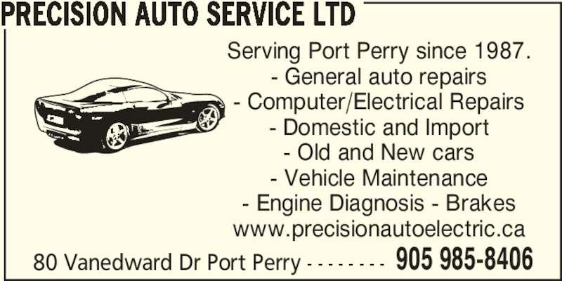 Precision Auto Repair & Electric (905-985-8406) - Display Ad -