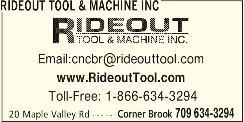 Rideout Tool & Machine Incorporated - Corner Brook, NL - 20 Maple ...