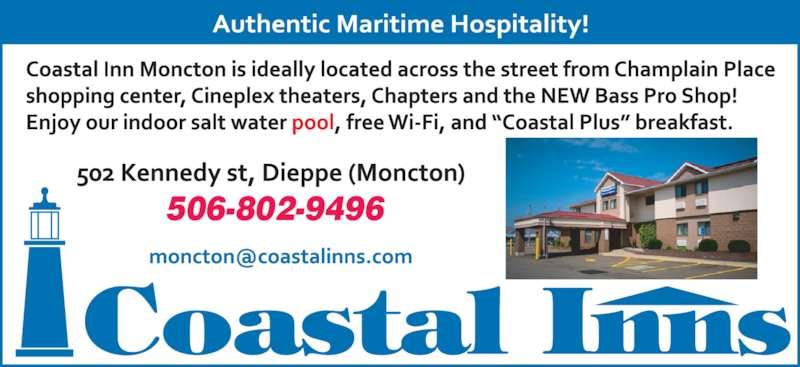 Coastal Inn Champlain (506-857-9686) - Annonce illustrée======= - 506-802-9496