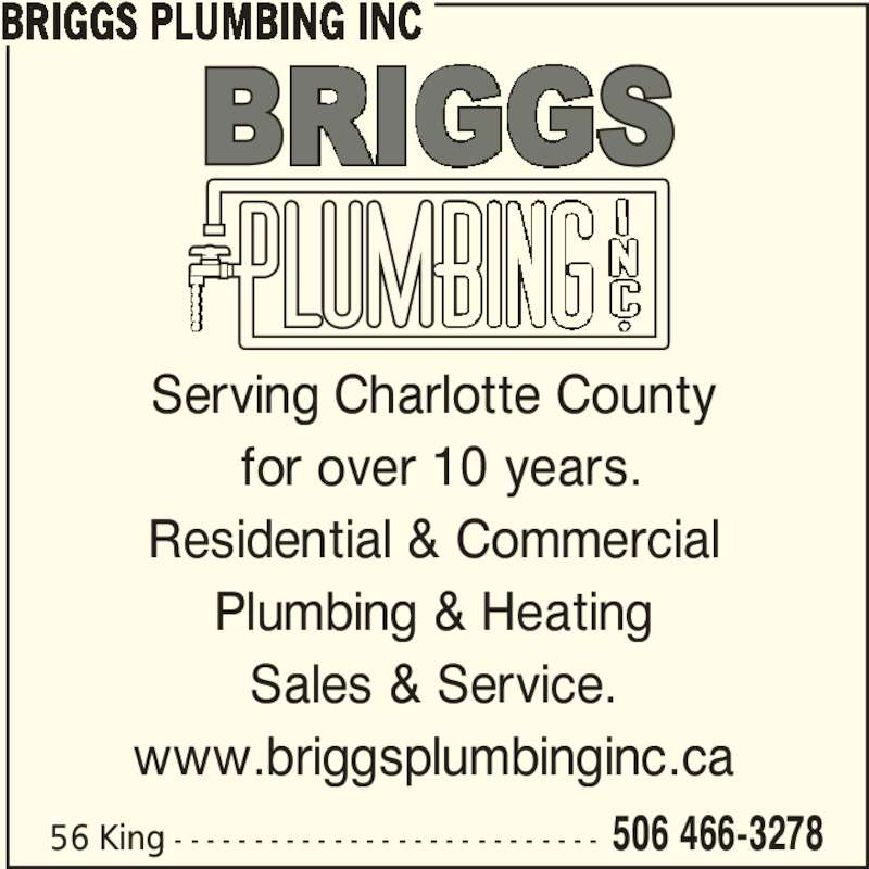 Briggs Plumbing Inc Opening Hours 56 King St St