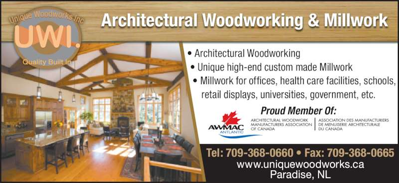 Unique Woodworks Inc - Paradise, NL - 1290 Kenmount Rd | Canpages