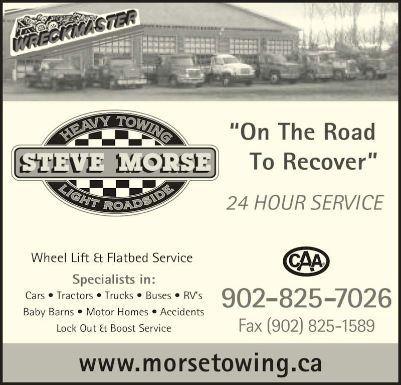 Steve morse heavy towing middleton ns 306 nictaux rd for 24 hour tanning salon near me