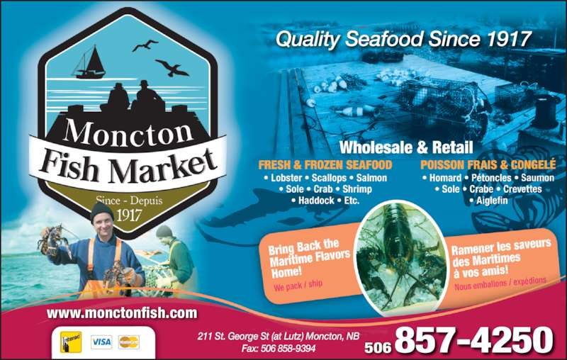 Moncton fish market ltd opening hours 211 st george for Fish market hours