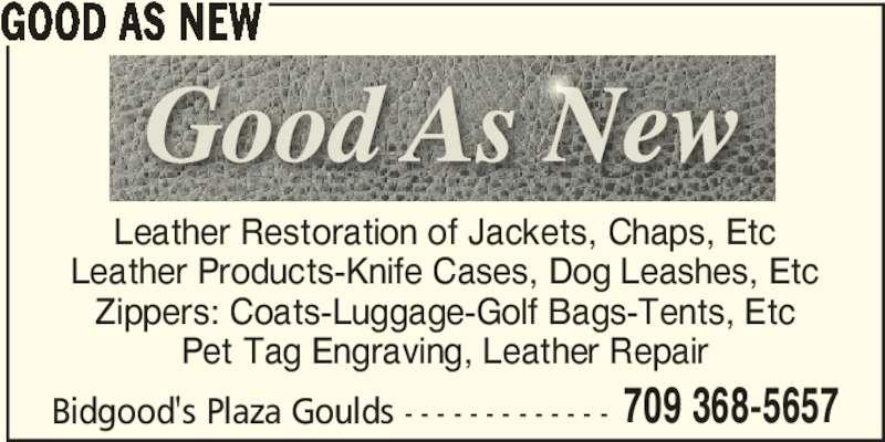 Good As New Shoe Repair Bidgood S Plaza