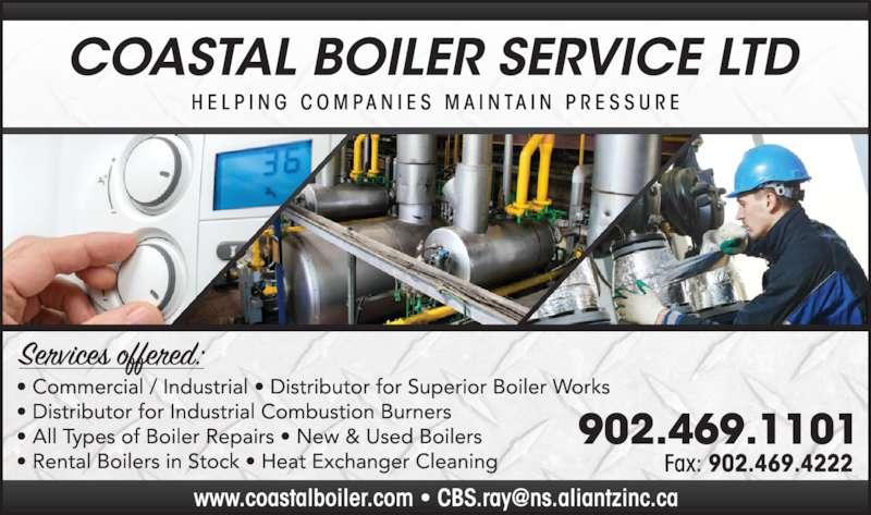 Coastal Boiler Service (902-469-1101) - Display Ad -