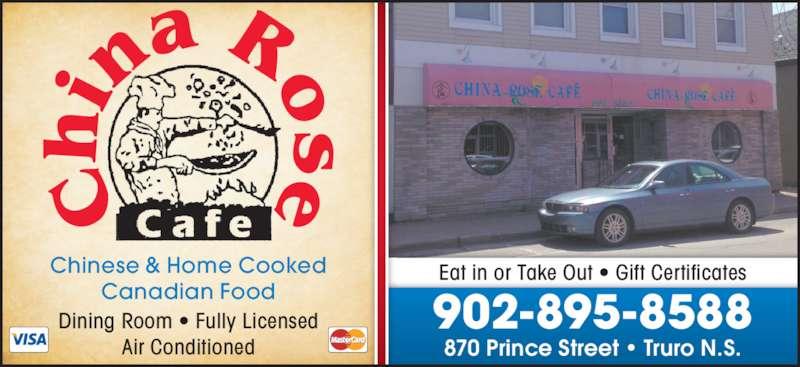 China Rose Cafe (902-895-8588) - Display Ad -