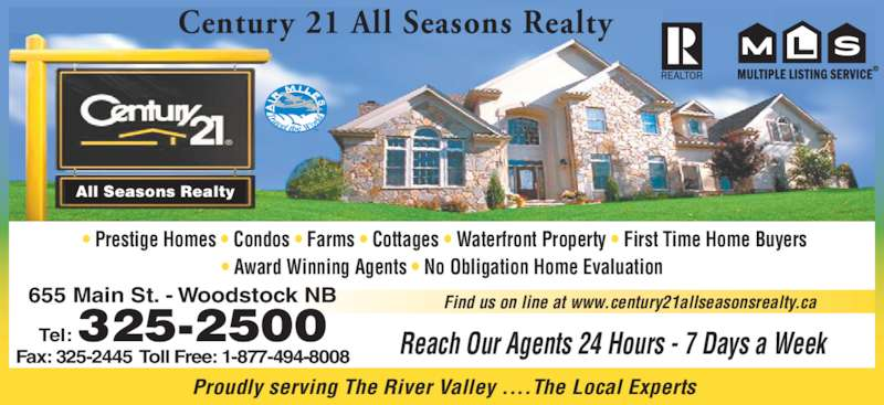 Century 21 all seasons realty opening hours 655 main for Prestige homes new brunswick