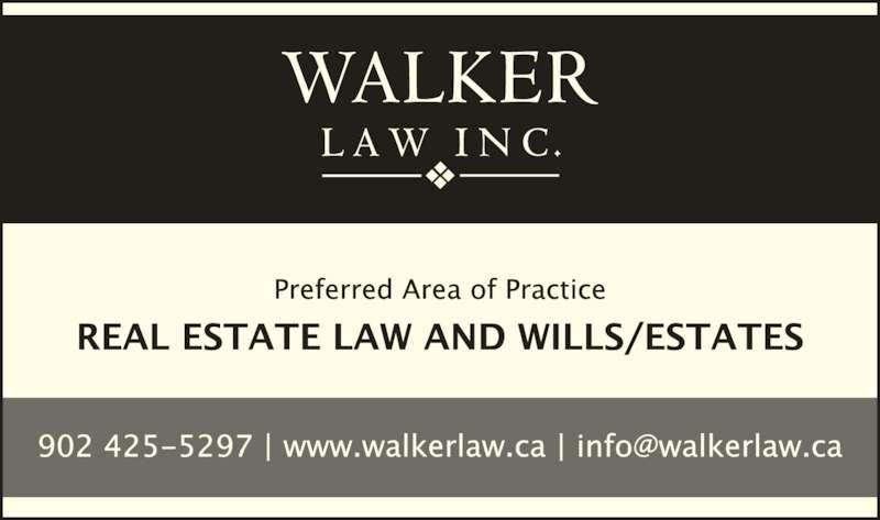 Walker Law Inc (902-425-5297) - Display Ad -