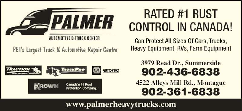 Palmer Automotive & Truck Centre (902-436-6838) - Annonce illustrée======= -