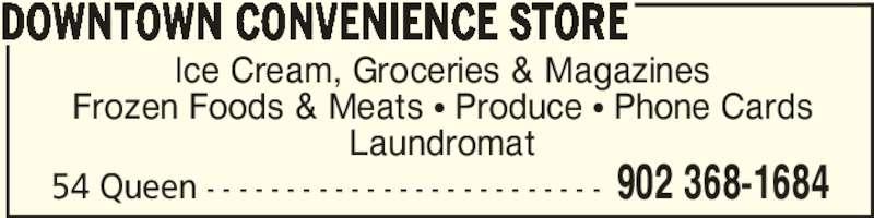 Downtown Convenience & Laundromat (902-368-1684) - Annonce illustrée======= -