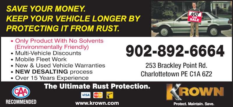 Krown rustproofing coupons ottawa