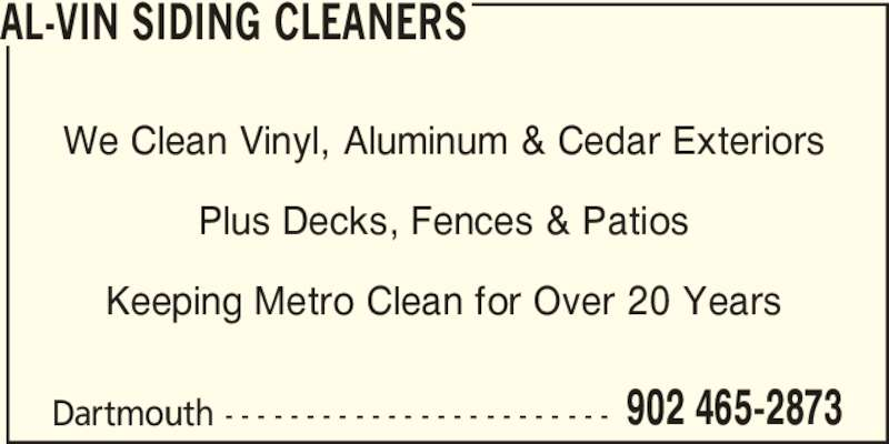 Al Vin Siding Cleaners Opening Hours 106 Wildwood Blvd