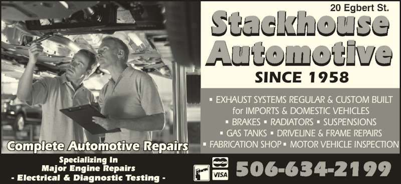 Stackhouse Automotive 20 Egbert St Saint John Nb