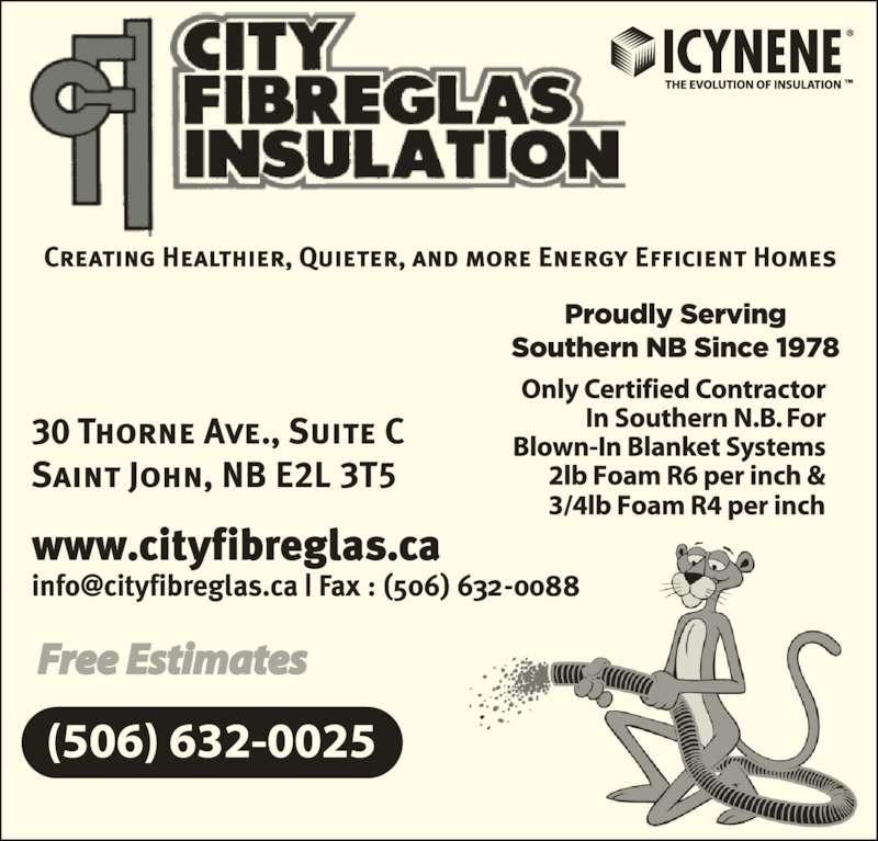 Roofing Contractors Concord Ca City Fibreglas Insulation Ltd - Saint John, NB - 30 Thorne ...